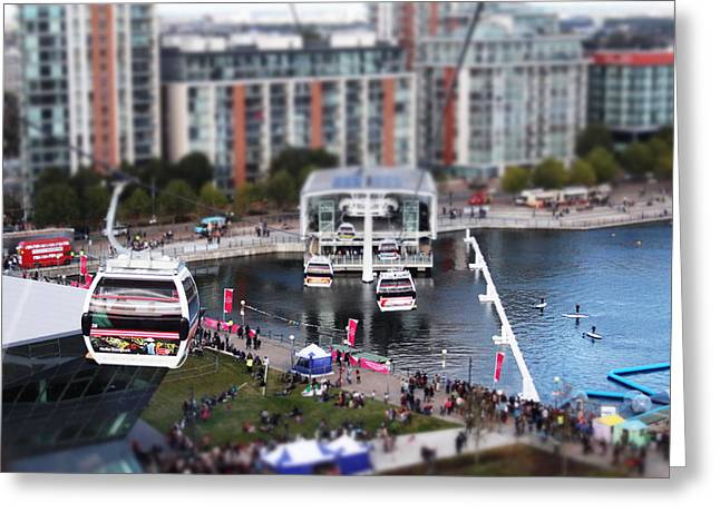 Helix Greeting Cards - Emirates Air Line Greeting Card by Ash Sharesomephotos