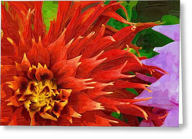 Close Up Paintings Greeting Cards - Flowers Poster Greeting Card by Victor Gladkiy