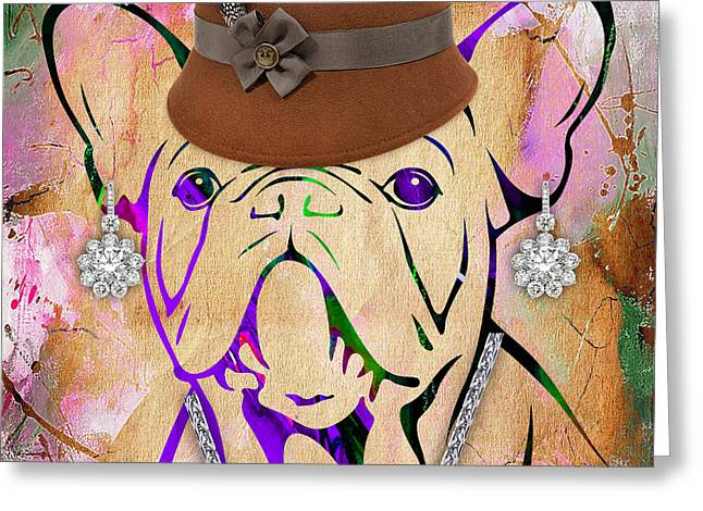 Pop Mixed Media Greeting Cards - French Bulldog Collection Greeting Card by Marvin Blaine