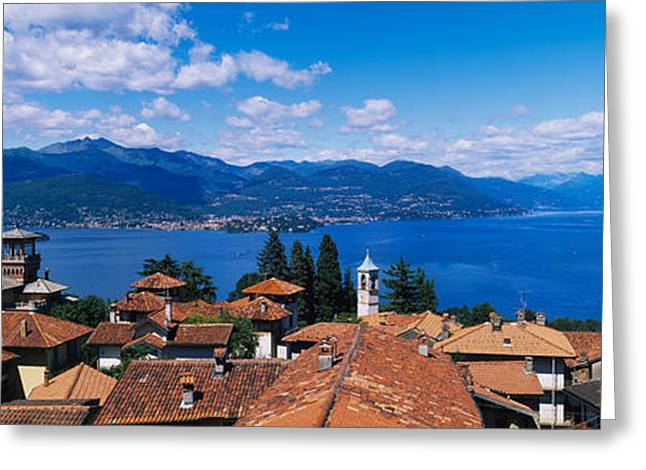 """roof Tile"" Greeting Cards - High Angle View Of Buildings Greeting Card by Panoramic Images"