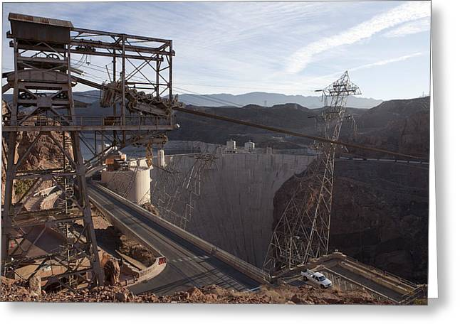 Power Plants Greeting Cards - Hoover Dam Greeting Card by Karen Cowled
