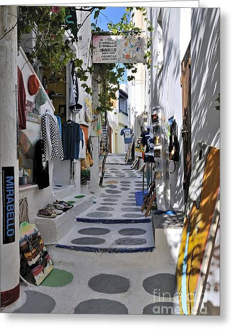 Greece Greeting Cards - Ios town Greeting Card by George Atsametakis
