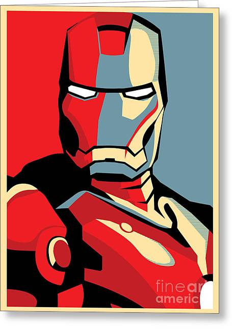 Power Digital Art Greeting Cards - Iron Man Greeting Card by Caio Caldas