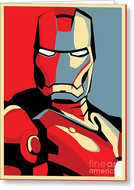 Masked Greeting Cards - Iron Man Greeting Card by Caio Caldas