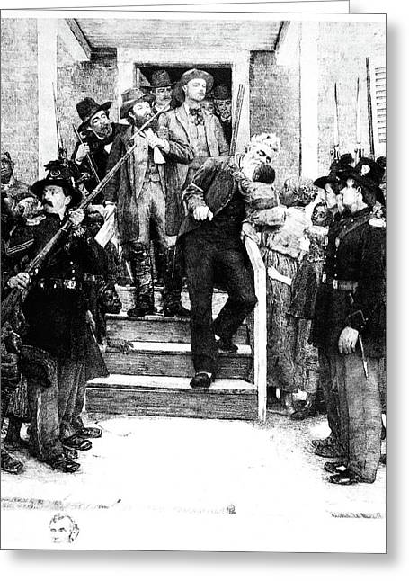 Abolition Movement Greeting Cards - John Brown (1800-1859) Greeting Card by Granger