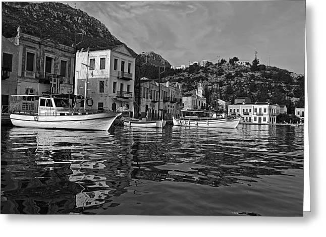 Aegean Greeting Cards - Kastellorizo island Greeting Card by George Atsametakis