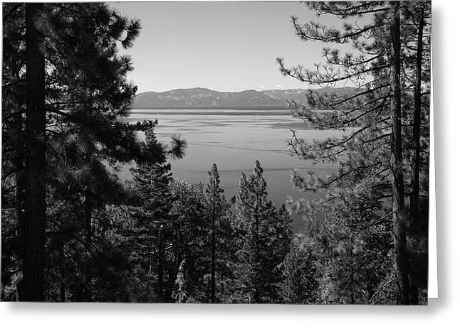 Skiing Art Posters Greeting Cards - Lake Tahoe Greeting Card by Frank Romeo