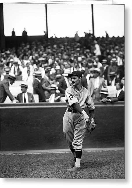 Baseball Glove Greeting Cards - Lloyd J. Waner Greeting Card by Retro Images Archive