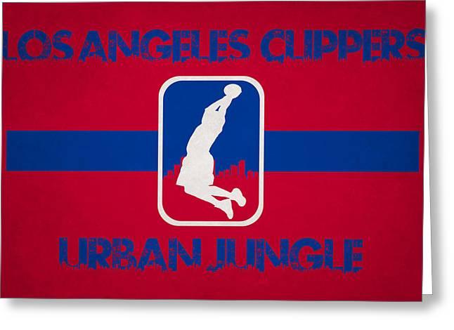 Los Angeles Clippers Greeting Card by Joe Hamilton