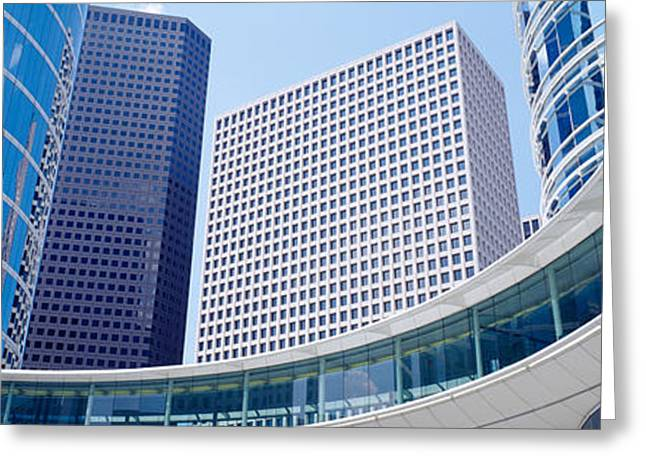 Commercial Building Greeting Cards - Low Angle View Of Buildings In A City Greeting Card by Panoramic Images