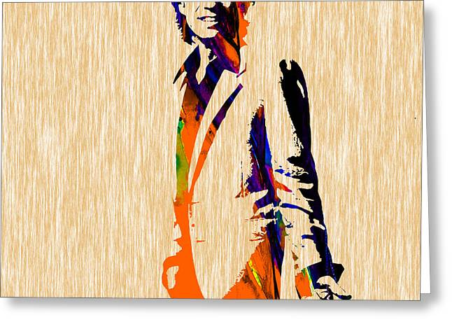 Mick Jagger Greeting Cards - Mick Jagger Greeting Card by Marvin Blaine