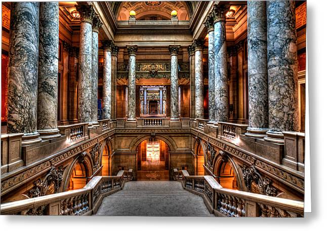 The Houses Greeting Cards - Minnesota State Capitol Greeting Card by Amanda Stadther