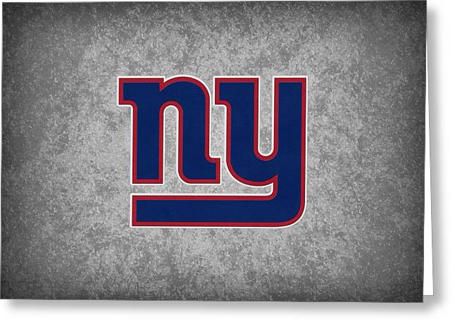 New York Giants Greeting Card by Joe Hamilton