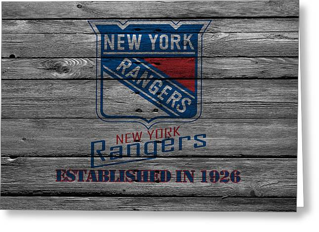 Playoff Greeting Cards - New York Rangers Greeting Card by Joe Hamilton