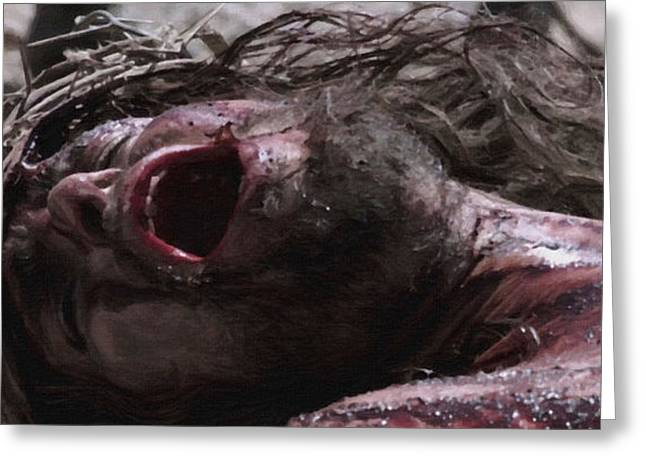 Religious Paintings Greeting Cards - Passion of the Christ Greeting Card by Victor Gladkiy