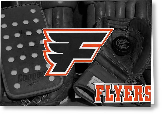 Flyers Greeting Cards - Philadelphia Flyers Greeting Card by Joe Hamilton