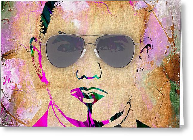 Pitbull Singer Greeting Cards - Pitbull Collection Greeting Card by Marvin Blaine