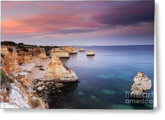 Mediterranean Landscape Greeting Cards - Praia da Marinha Greeting Card by Andre Goncalves