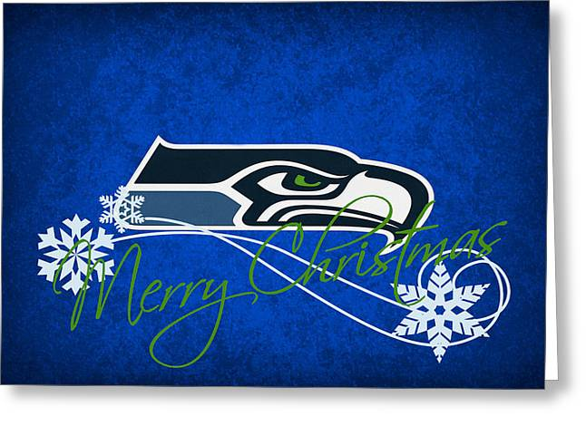 Seattle Greeting Cards Greeting Cards - Seattle Seahawks Greeting Card by Joe Hamilton