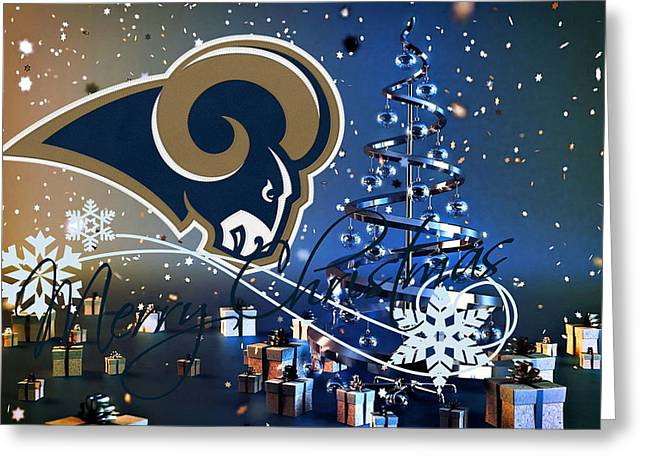 Nfl Greeting Cards - St Louis Rams Greeting Card by Joe Hamilton