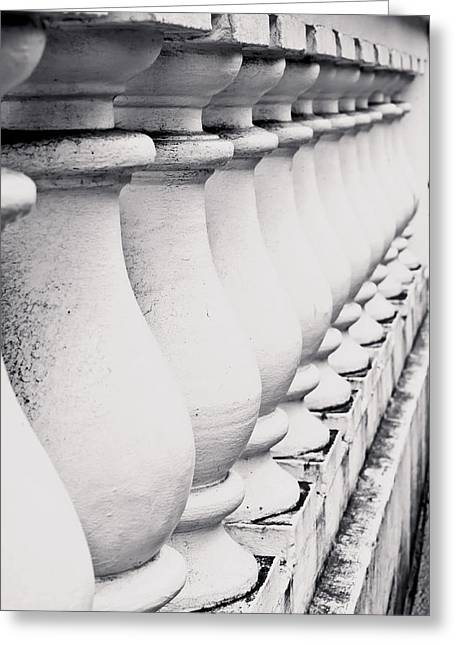Antique City Greeting Cards - Stone wall Greeting Card by Tom Gowanlock