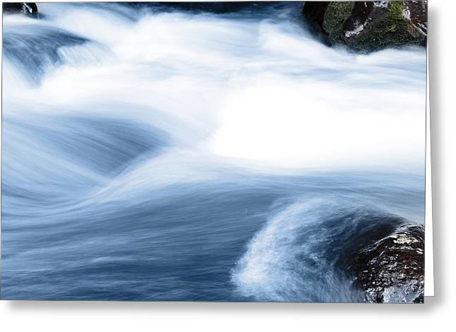 Rapids Greeting Cards - Stream Greeting Card by Les Cunliffe