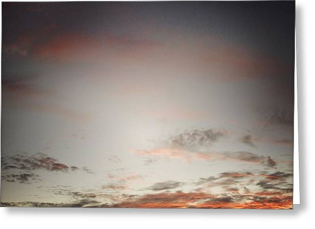 Warm Weather Greeting Cards - Sunset sky Greeting Card by Les Cunliffe