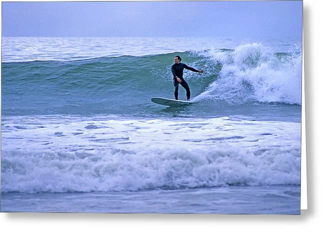 Surfing Greeting Card by Elijah Weber