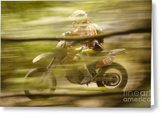 Enduro Greeting Cards - Through The Woods Greeting Card by Angel  Tarantella