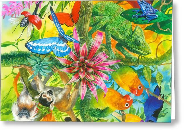 Wonders Of Nature Greeting Card by John Francis