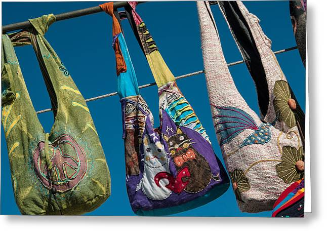 Shoulder Bag Greeting Cards - Venice Beach Boardwalk Greeting Card by Lee Roth