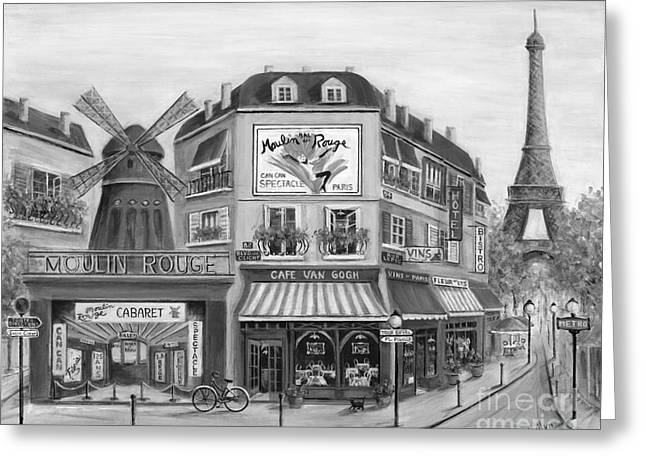 Paris Shops Greeting Cards - To Paris With Love II Greeting Card by Marilyn Dunlap