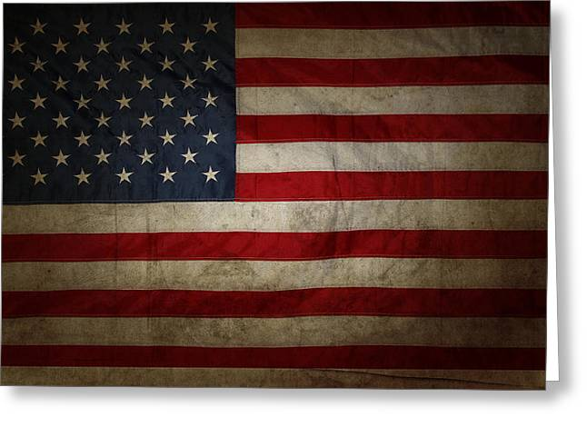 Flags Photographs Greeting Cards - American flag Greeting Card by Les Cunliffe