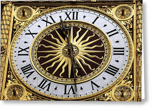 Clock Hands Greeting Cards - 1371 Greeting Card by John Rizzuto