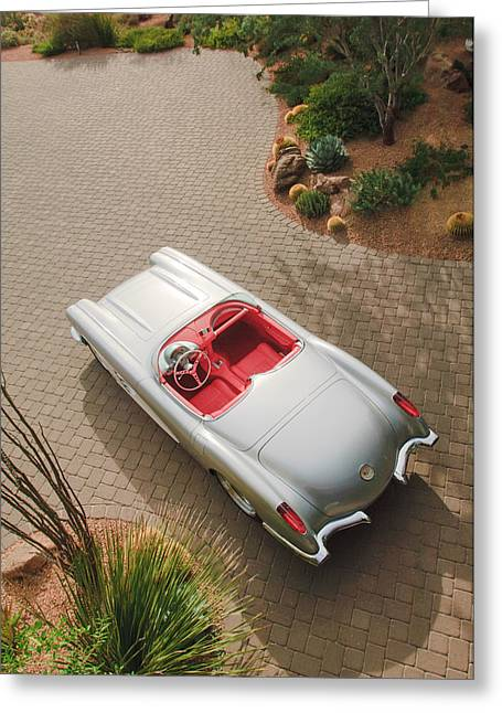 1960 Greeting Cards - 1960 Chevrolet Corvette Greeting Card by Jill Reger