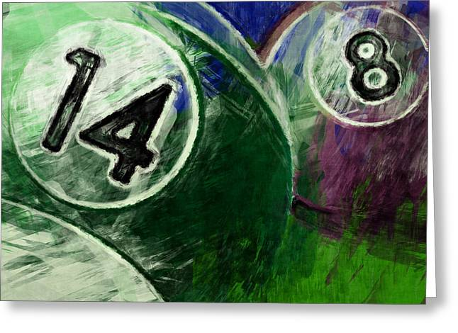 Cushion Greeting Cards - 14 8 Billiards Greeting Card by David G Paul