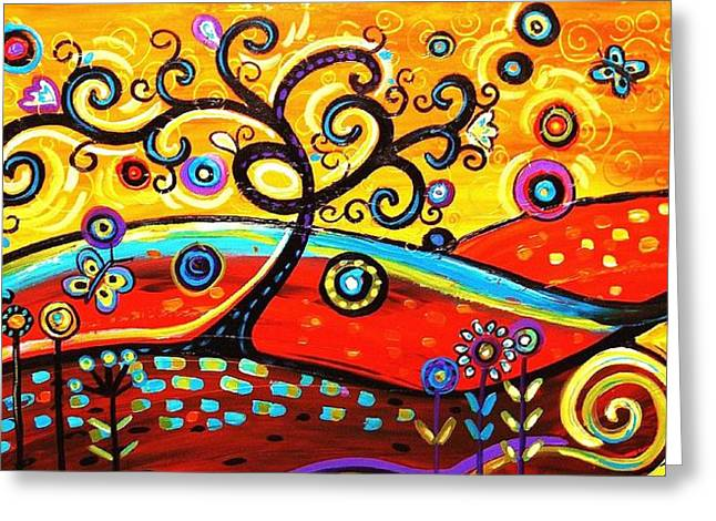 Jolina Anthony Greeting Cards - Abstract Painting  Greeting Card by Jolina Anthony
