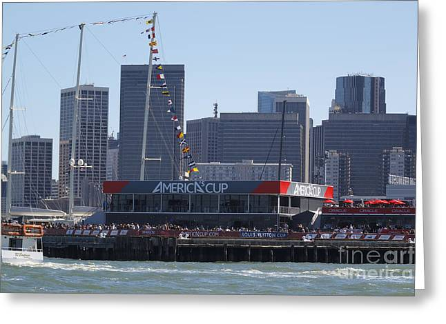 Applaud Photographs Greeting Cards - Americas Cup San Francisco Bay Greeting Card by Jason O Watson