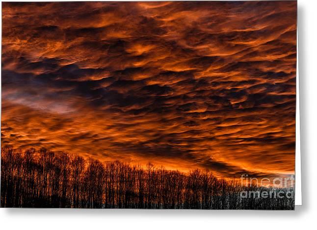 Brightness Greeting Cards - Appalachian Afterglow Greeting Card by Thomas R Fletcher