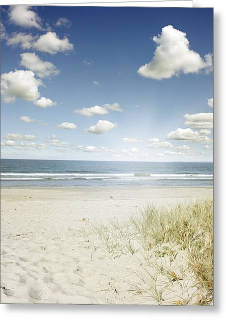 Copy Space Greeting Cards - Beach Greeting Card by Les Cunliffe