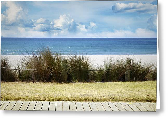 Beach Photograph Greeting Cards - Beach view Greeting Card by Les Cunliffe