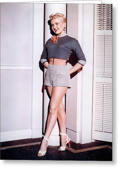 Betty Greeting Cards - Betty Grable Greeting Card by Silver Screen