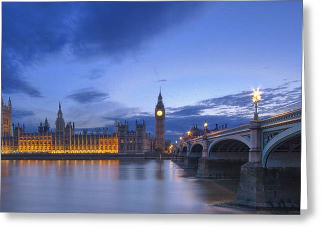 Lt Greeting Cards - Big Ben and the houses of Parliament  Greeting Card by David French