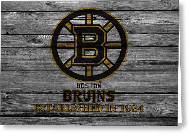 Barn Greeting Card Greeting Cards - Boston Bruins Greeting Card by Joe Hamilton