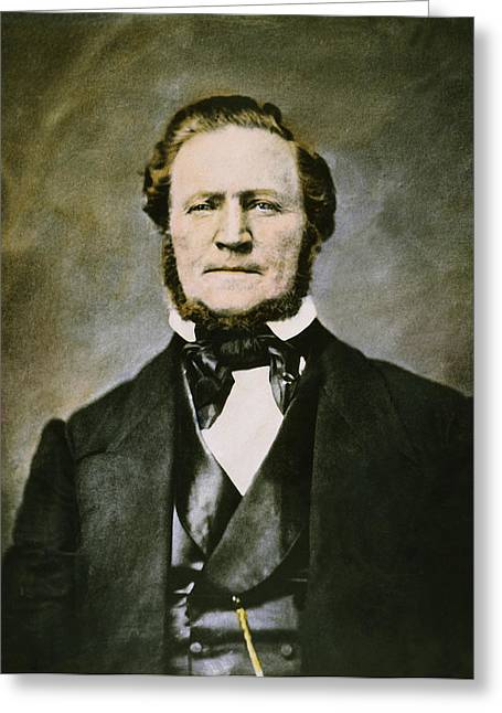 Sideburns Greeting Cards - Brigham Young (1801-1877) Greeting Card by Granger