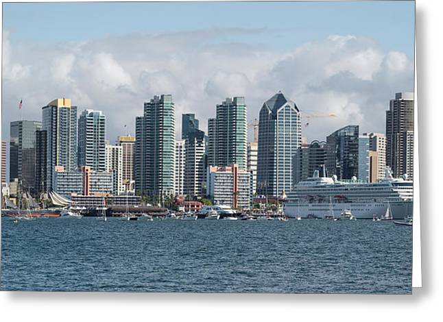 Ocean Photography Greeting Cards - Buildings At The Waterfront, San Diego Greeting Card by Panoramic Images