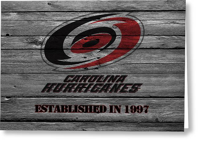 Carolina Hurricanes Greeting Cards - Carolina Hurricanes Greeting Card by Joe Hamilton