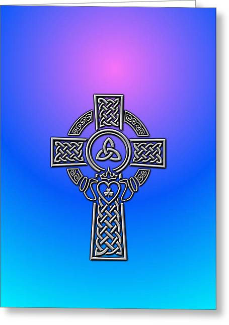 Celtics Greeting Cards - Celtic Cross Greeting Card by Ireland Calling