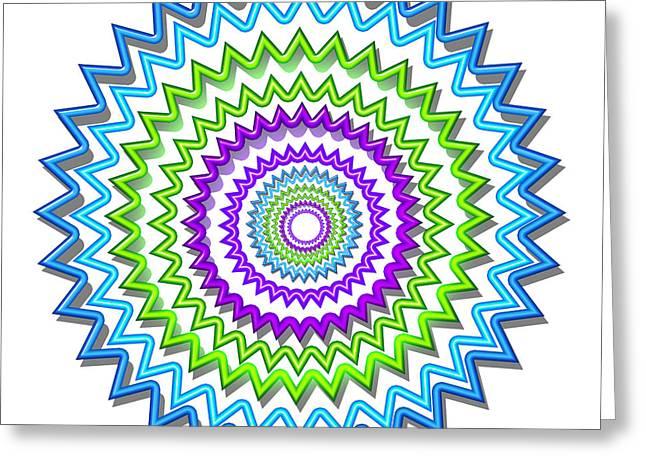 Marathon Champion Greeting Cards - Chakra Art Meditation Mandala Stained Glass Patterns  Reiki Karuna Healing Master created Decoration Greeting Card by Navin Joshi