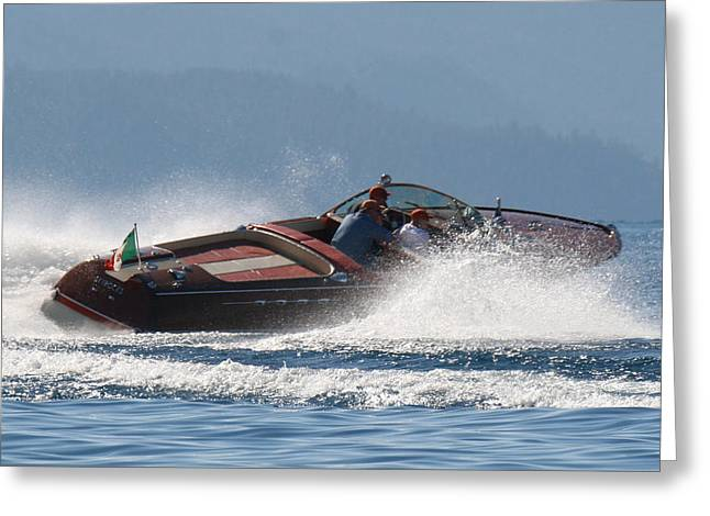 Riva Greeting Cards - Contrast In Classics Greeting Card by Steven Lapkin